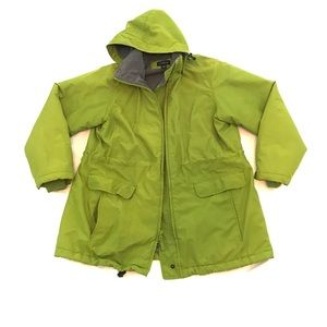 Lands' End Winter Jacket Fleece Lined Thermacheck